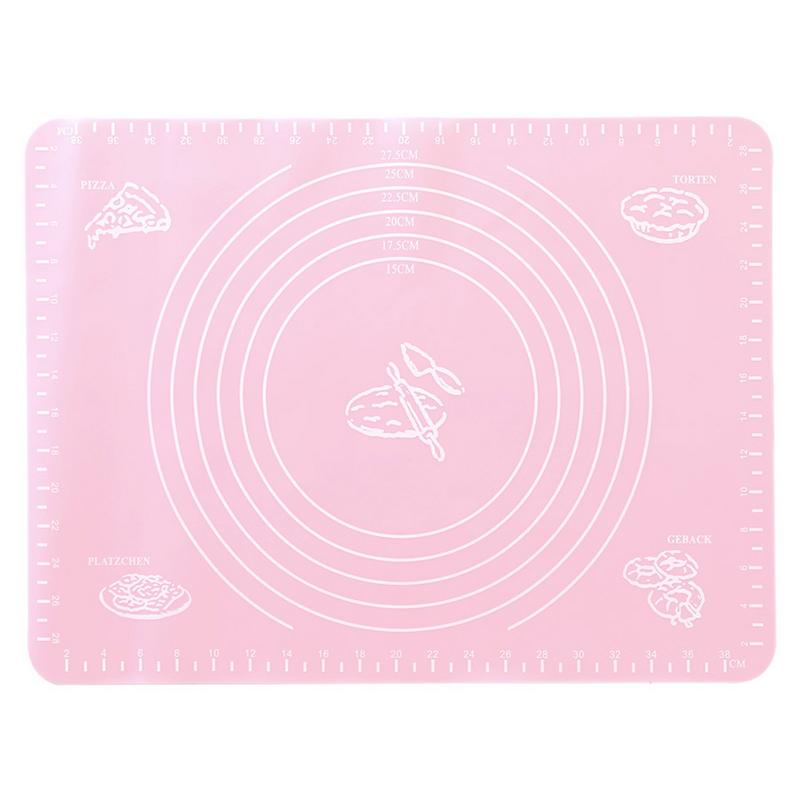 40x30cm High Temperature Resistant Silicone Pad Thick Non-Slip With Scale Noodles Knead Pad Baking