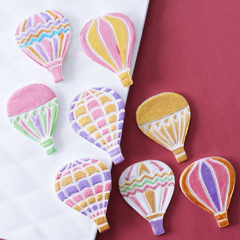 4pcs Balloon Plastic Cartoon Fondant Biscuit Cookie Cutter Cake Mold Fondant Mold Cake Decorating