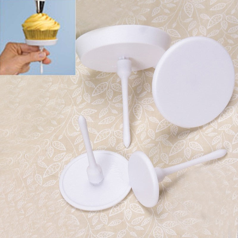 4pcs/set Cake Stands Holders Nail Shaped Cupcake Cake Accessories for Confectionery Dessert