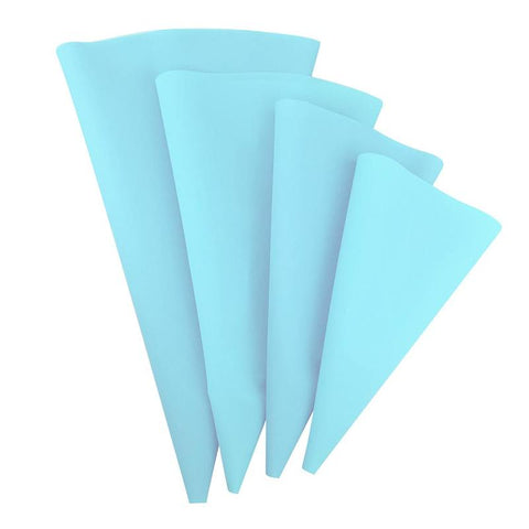4pcs/set Confectionery Bag Silicone Icing Piping Cream Pastry Bag Nozzle Baking Decorating Tools