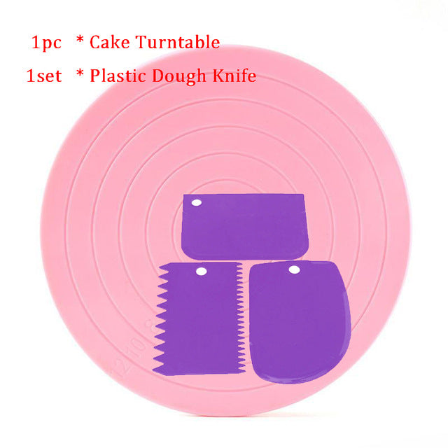 5.5 Inch Rotating Cake Turntable Revolving Cake Decorating Stand Platform Cake Decorating Tool