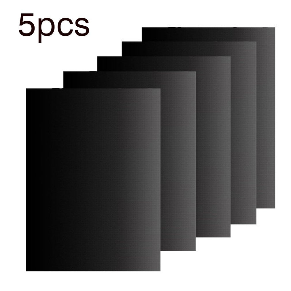 5 Pcs Non-Stick Surface Heat Resistant BBQ Grill Mats 40*33cm Durable Barbecue Baking Mats Grill Pad