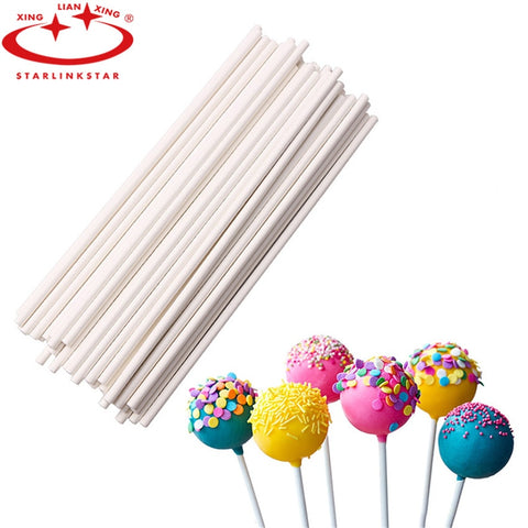 50pcs/Set 15cm Long Pop Pepar Lollipop Stick for Lollipop Chocolate Sugar Cudgel Pole Handle Rod