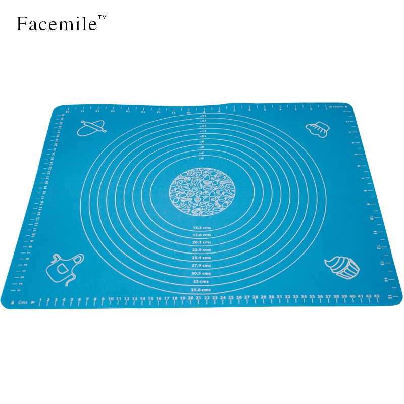 50x40cm Silicone Cake Dough Pastry Fondant Rolling Cutting Mat Baking Pad Pastry Boards Cookie