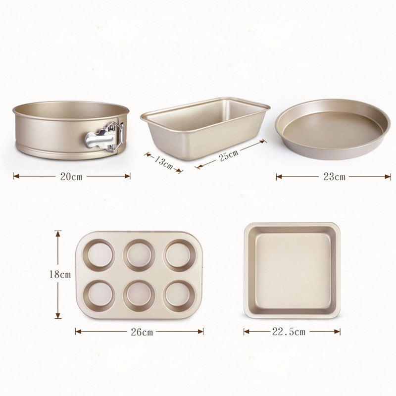5PCS Stainless Steel Baking Set Cake Bakeware Mold Kitchen Pastry Tools Accessories Cookies Bakeware