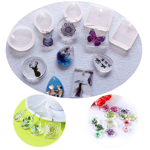 5Pcs/Set Water Drop Shape Silicone Mold For Resin Forms Crystal Diamond Bracelet Pendant Jewelry