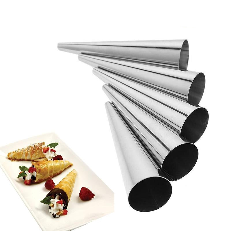 5Pcs/lot DIY Baking Cones Horn Pastry Roll Cake Mold Spiral Baked Croissants Tubes Cookie Dessert Kitchen Baking Tool