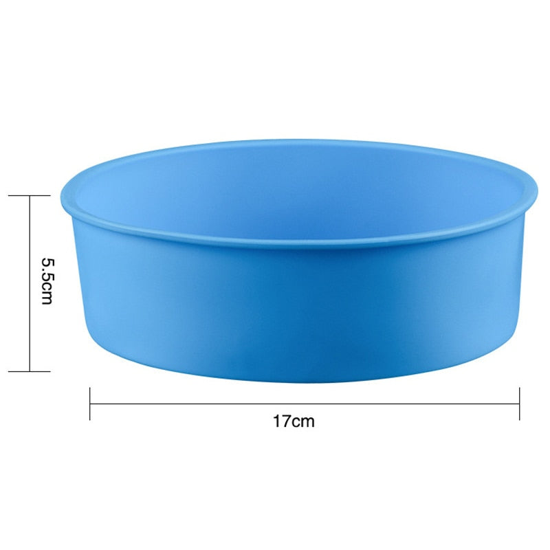 6 Inch Cake Mold Silicone Round Mousse Bread Muffin Pan Bakeware Mould Baking Tray E2S