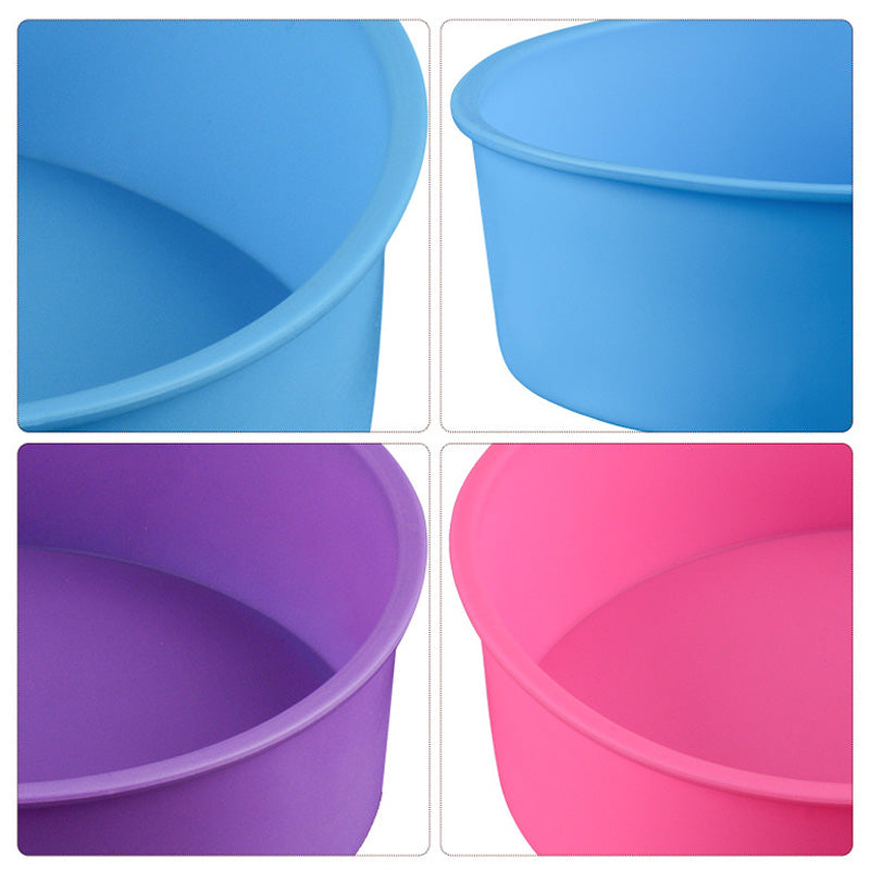6 Inch Cake Mold Silicone Round Mousse Bread Muffin Pan Bakeware Mould Baking Tray WXV Sale