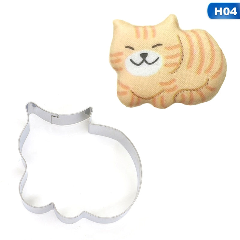 6 Styles Animal Pet Dog Bone Paw Cookie Cutter Mold 3D Sugar craft Pastry Biscuit Fondant Cake