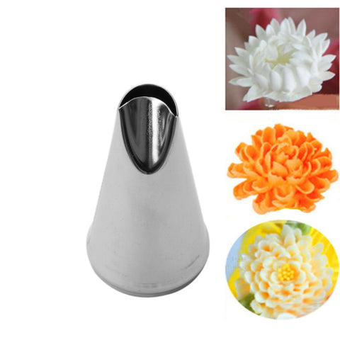 6 Styles Stainless Steel Piping Icing Nozzle for Ice Cream Cake Decorating Tip Pastry Rose Petal