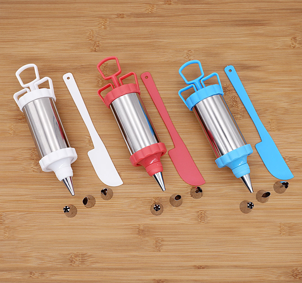 6-piece stainless steel set icing pipe nozzle DIY household baking tools cake auxiliary cream