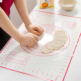 Non-Stick Silicone Baking Mat Pad Baking Sheet Glass Fiber Rolling Dough Mat Cookie