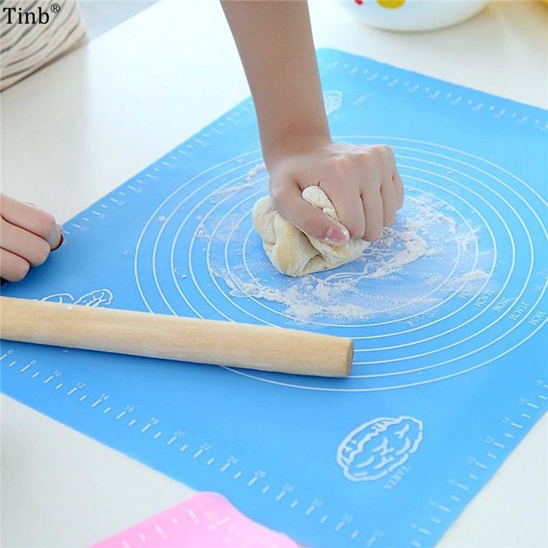 65*45CM 50*40cm Baking Silicone Mats For Rolling Pastry Liner Baking Bakeware Mat Non Stick Pan
