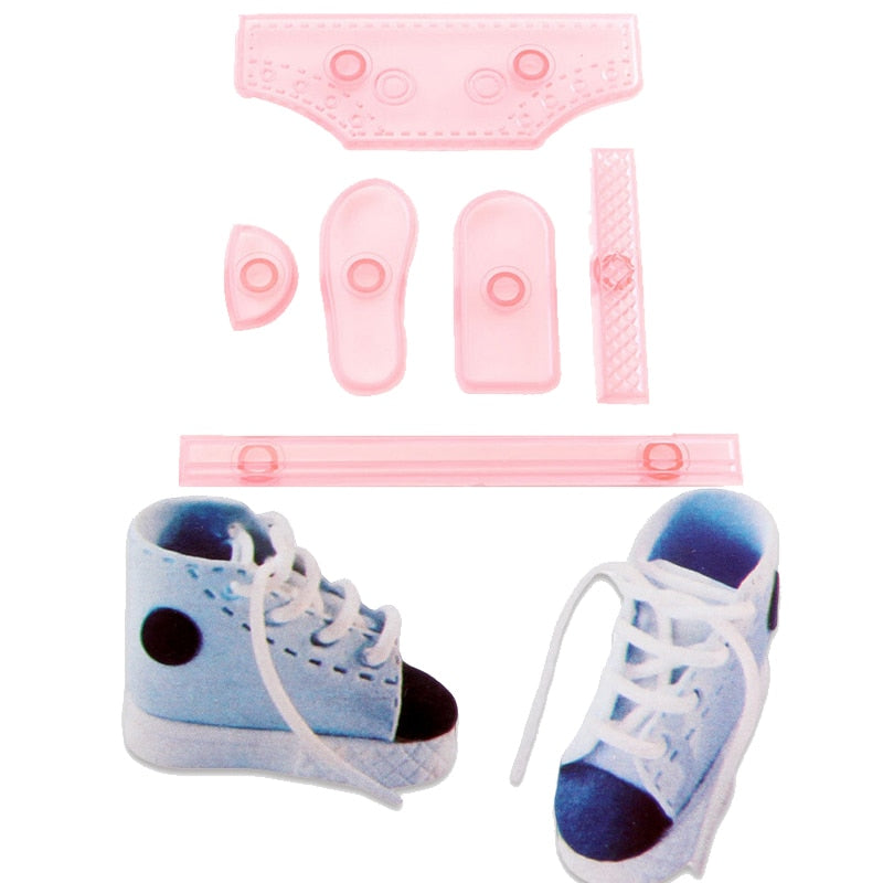 6PCS/SET Baby Shoe Sneaker Shape DIY Cake Mold high-top Shoes Confectionery  Cut Decorating