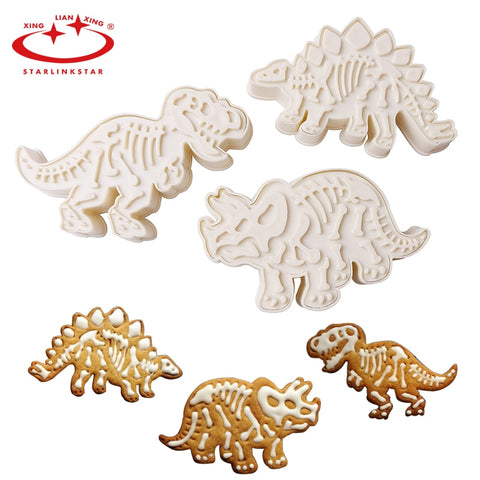 6pc/lots Dinosaur Cookies Cutters Biscuit Mould Set Tools Kitchenware Bakeware Decorative Tools