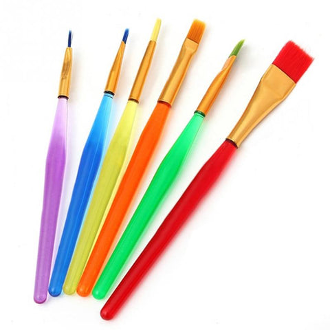 6pcs/set Cake Decorating Brush Set Food Paint Icing Cupcake Sugarcraft Cake Dessert Pastry