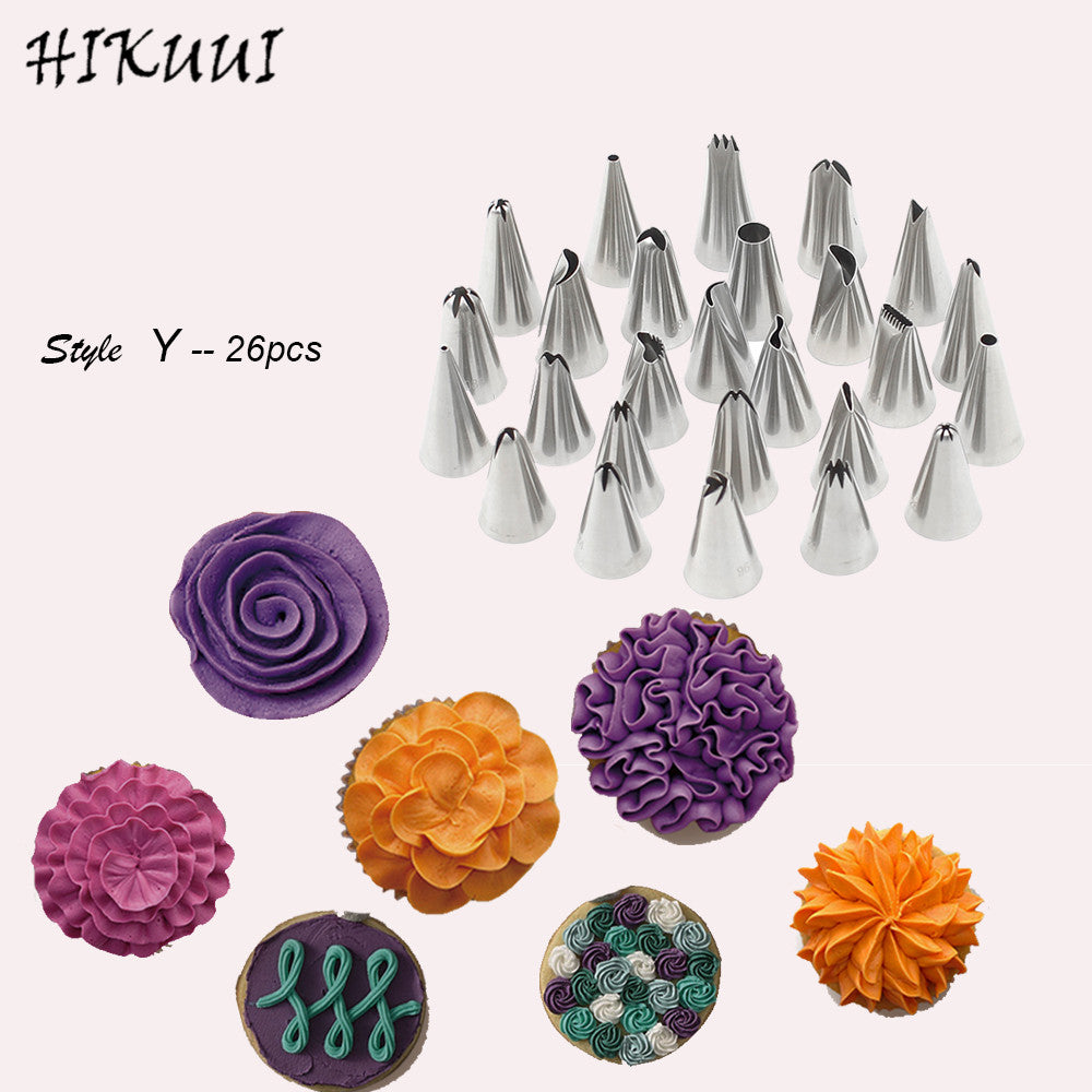 76PCS Stainless Steel Pastry Nozzles Set Icing Piping Tips Russian Korean Style Ball Shape Nozzle