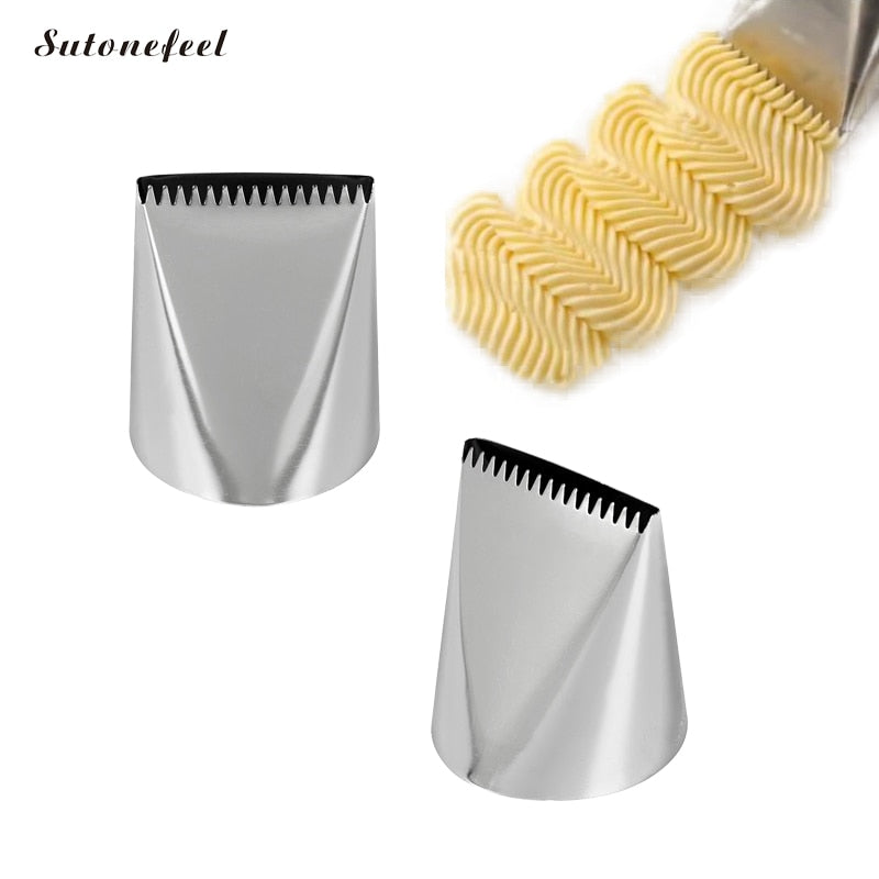 789 Piping Nozzles 1 Piece Stainless Steel Nozzles Extra Large Pastry Icing Nozzles for DIY Cake