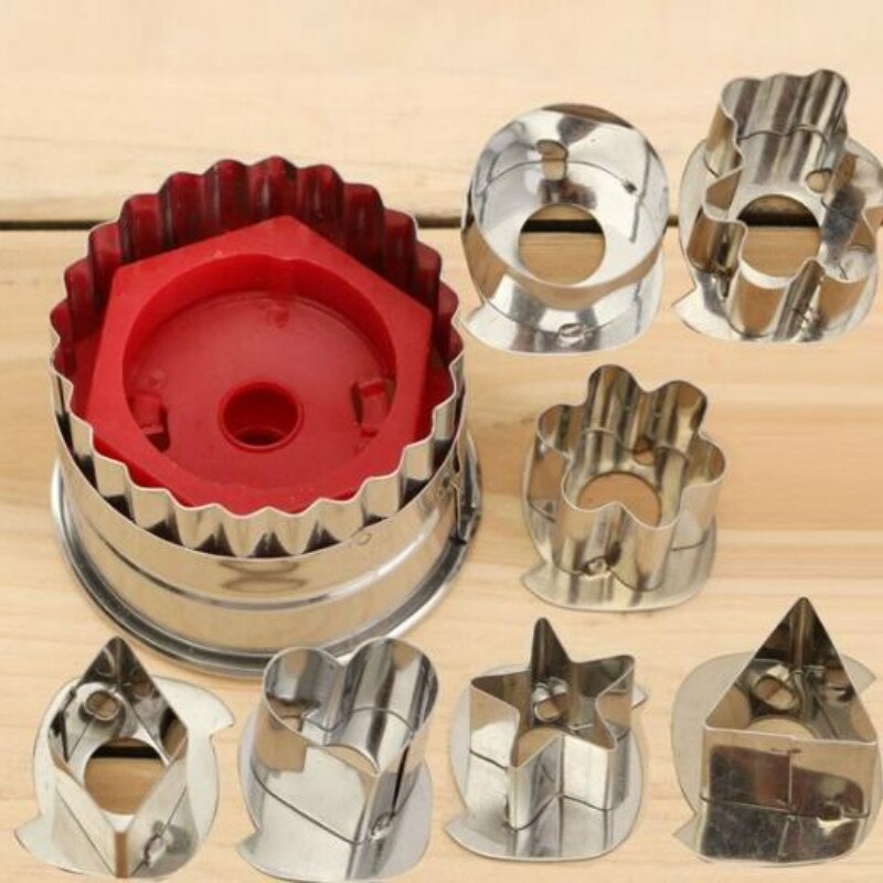 7Pcs/lot Cookie Cutter Tools 3D Scenario Stainless Steel Cookie Cutter Set Gingerbread Cake