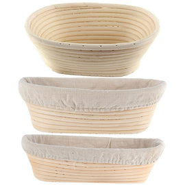 8 Sizes Oval Dough Banneton Brotform Dougn Rattan Bread Proofing Proving Baskets Fermentation Wicker