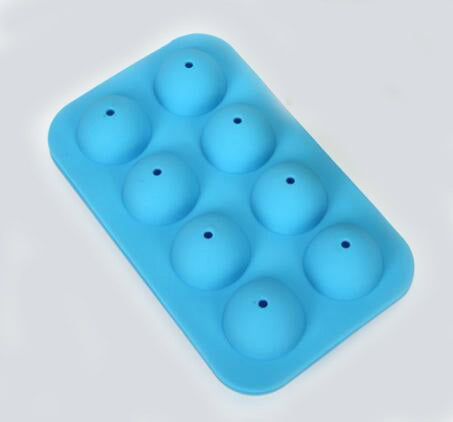 8 Units 12 Units Holes Sillicone Round ball Cake pop Molds 1 set (2 molds top and bottom)