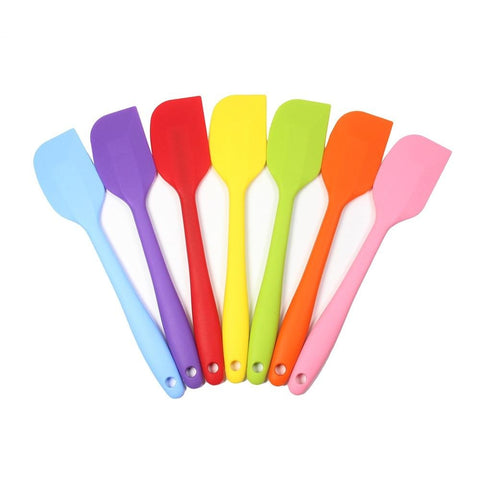 8 inch Silicone Spatula  - 1 Small Heat Resistant Non-Stick Cooking Utensils (Multicolor)