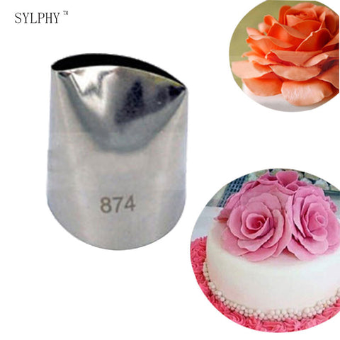 #874 Large Size Rose Stainless Steel Icing Piping Nozzles Cake Cream Decoration Tips Pastry Cake