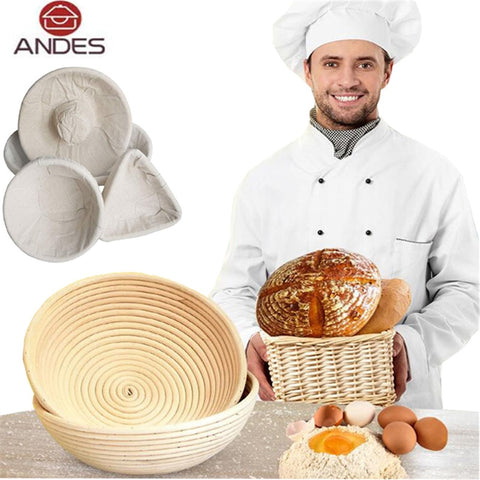 ANDES Various Shapes Fermentation Rattan Basket Country Bread Baguette Dough Banneton Brotform