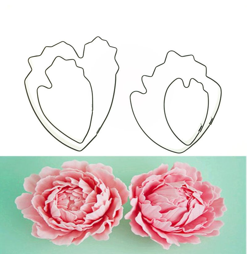 APRICOT 4pcs/set peony flower  Cookie Cutter 3D Sugarcraft Fondant Cake Pastry Biscuit Baking Mold