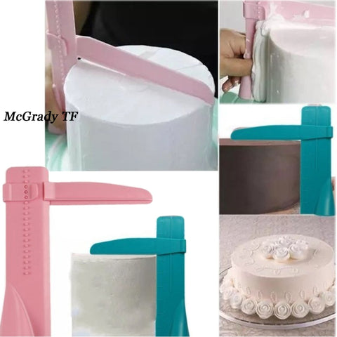 Adjustable Cake Scraper Smoother Frosting Cake Scraper Baking Spatulas Practical Fondant Edge Side