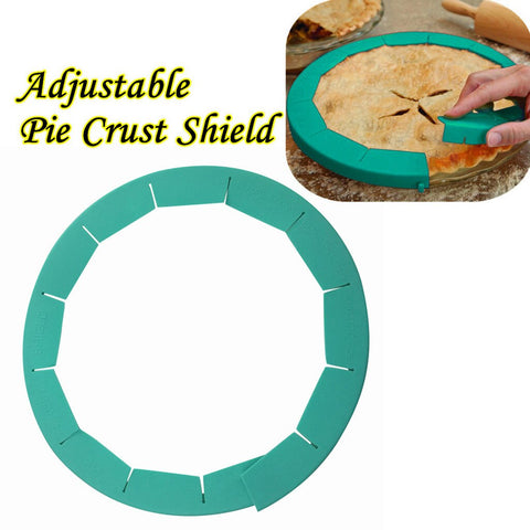 Adjustable Silicone Pie Crust Shield Silicone kitchen Cooking Accessories Fit 8.5Inch - 11.5Inch