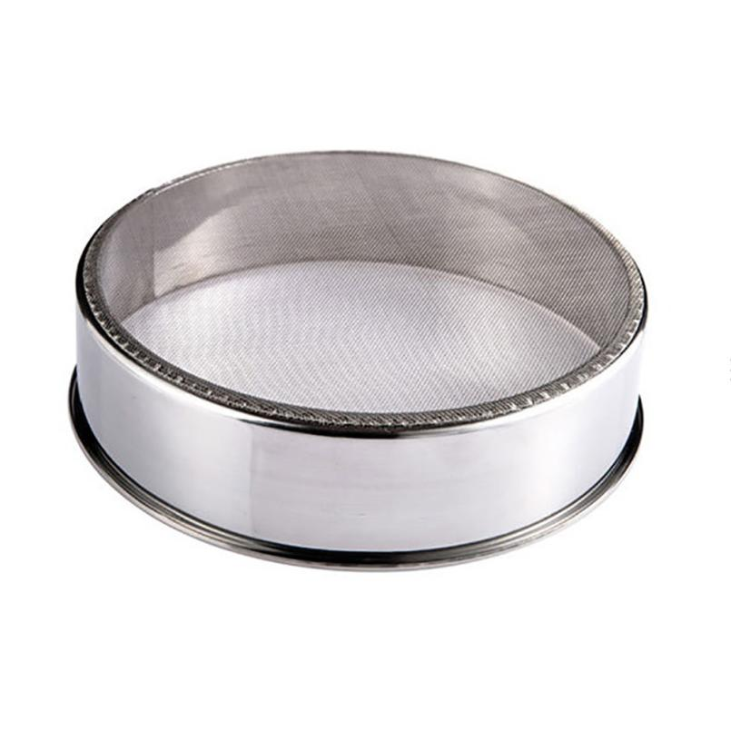 Advanced Pure Stainless Steel Flour Sieve colander Powdered Sugar Filter Mesh Sifting Strainer