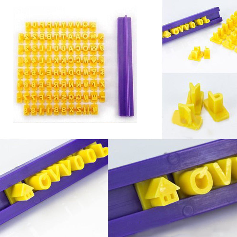 Alphabet Letter Number Cookie Press Stamp Embosser Cutter Fondant Mould Cake Baking Molds Tools