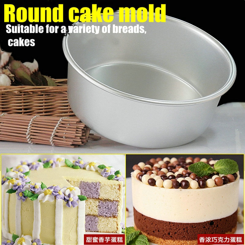 Aluminum Alloy Die Round 4/5/6/7/8/9/10 Inch Cake Mold Cake Tool Baking Dish Baking Mould Pan