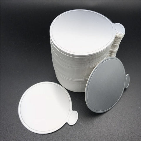 Aomily 100pcs/Set Round Cake Silver Paper Mousse Cake Boards Dessert Displays Tray Birthday Cake