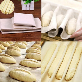 Aomily Proofing Linen Flax Cloth Dough Bakers Pans Proving Bread Baguette Kitchen Tool Fermented