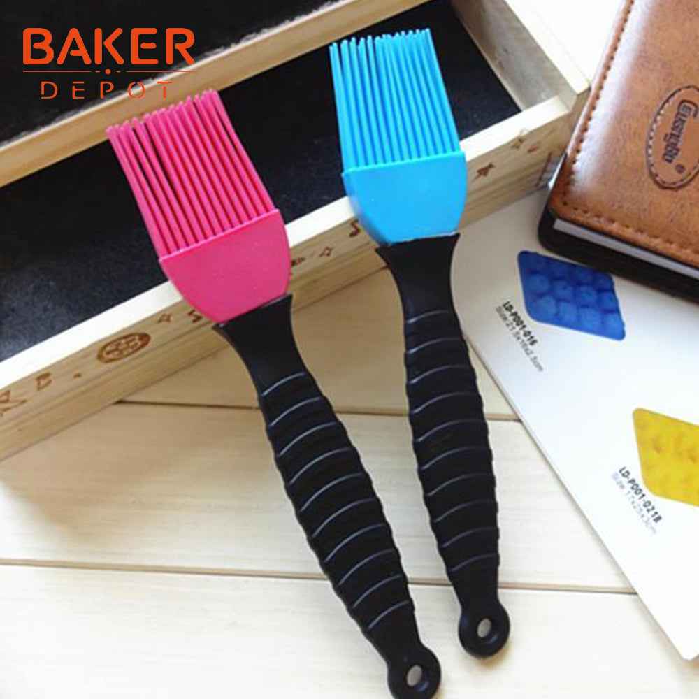 BAKER DEPOT silicone bakeware BBQ brush butter oil brushes silicone cream cake baking barbecue