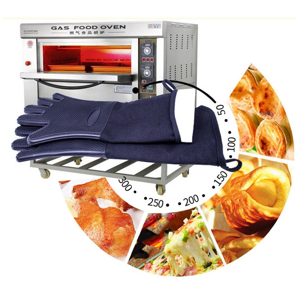 BBQ Microwave Oven Gloves 2018 Kitchen Utensils Non-slip Gloves Silicone Heat Resistant Baking Tools
