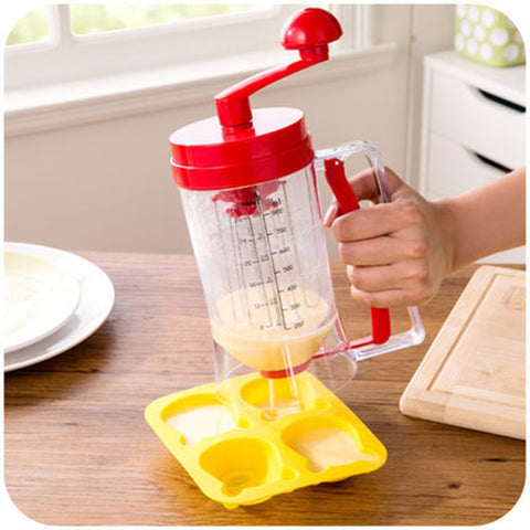 Bakeware 3-in-1 Manual Mixer Batter Dispenser for Cupcakes Muffin Cake Waffles Pancake Machine