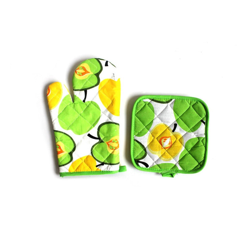 Baking Accessories 2 Piece/Set Potholders Oven Mitts Cute Printed Oven Gloves Heat Resistant