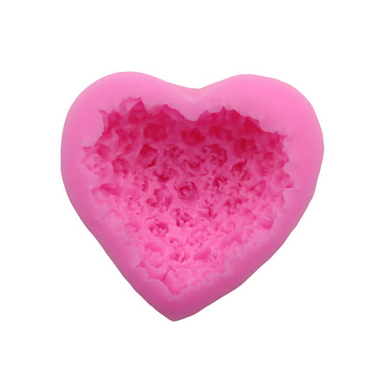 Baking Accessories Fondant Cake Mold Bouquet Loving Heart Shape Valentine's Day Gift 3D Rose