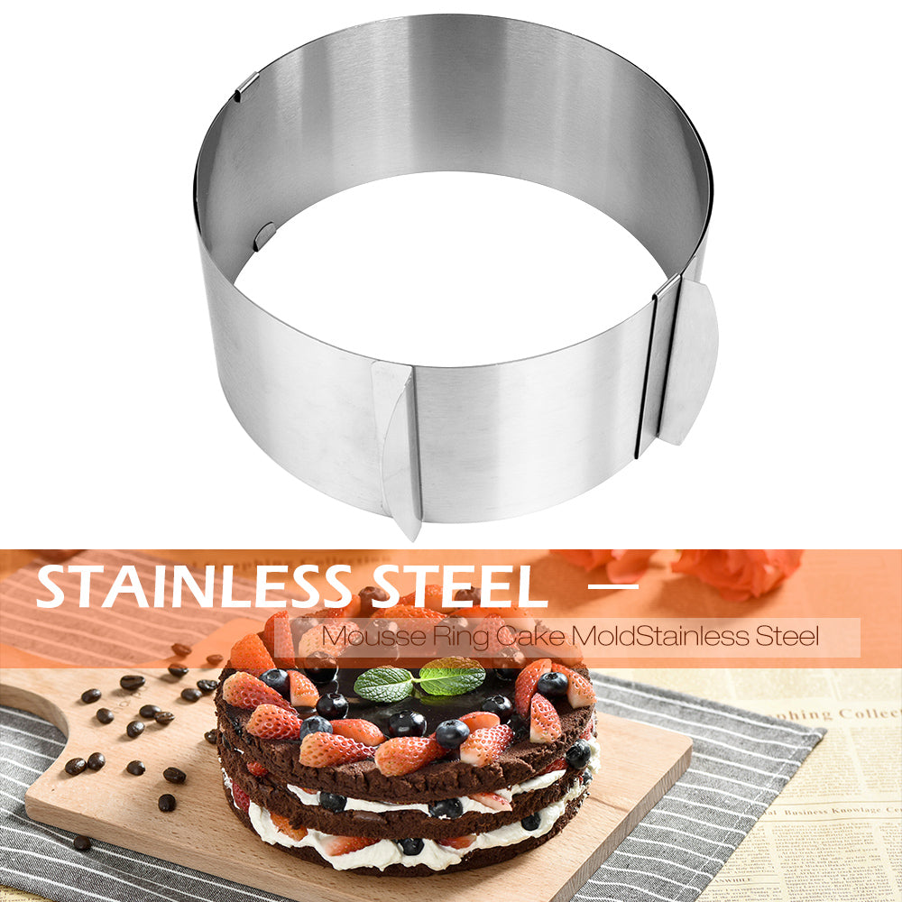 Baking Pastry Tool Retractable Circle Cake Mould Mold Mousse Ring Cake Mold Stainless Steel Size