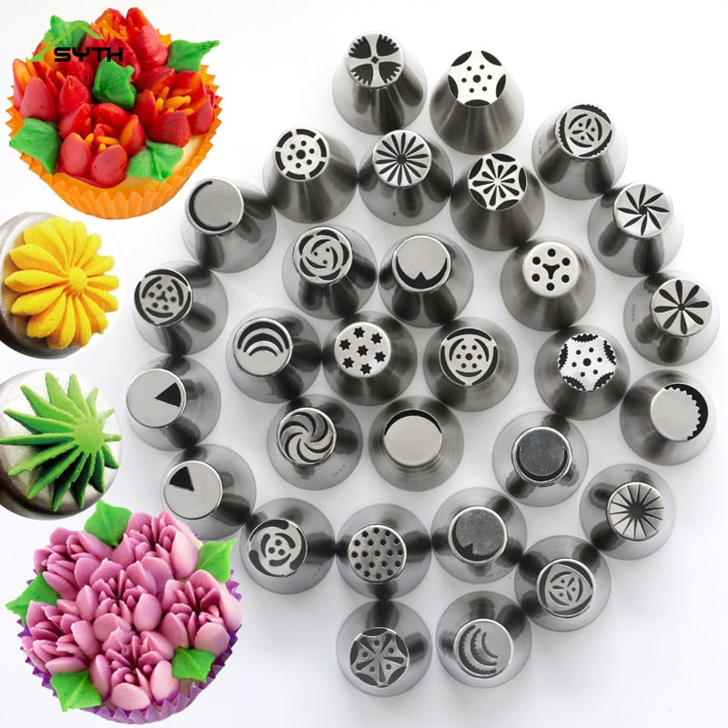 Baking&Pastry Tools 7PCS Big Russian Nozzles Set Stainless Steel Icing Cream Sugarcraft