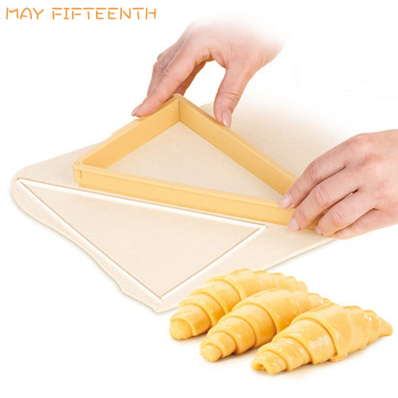 Baking Pastry Tools Plastic Croissant Cutter Mold Roll Croissant Maker Machine Bread Line Mould