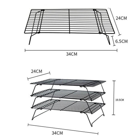 Baking Tools & Accessories Multi-layer Metal Cooling Rack for Cookies cupcakes and More, Kitchen