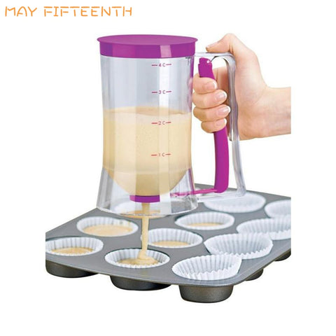 Baking Tools Plastic Batter Dispenser for Cupcake Cookie Pancakes Waffle Muffin Cake with
