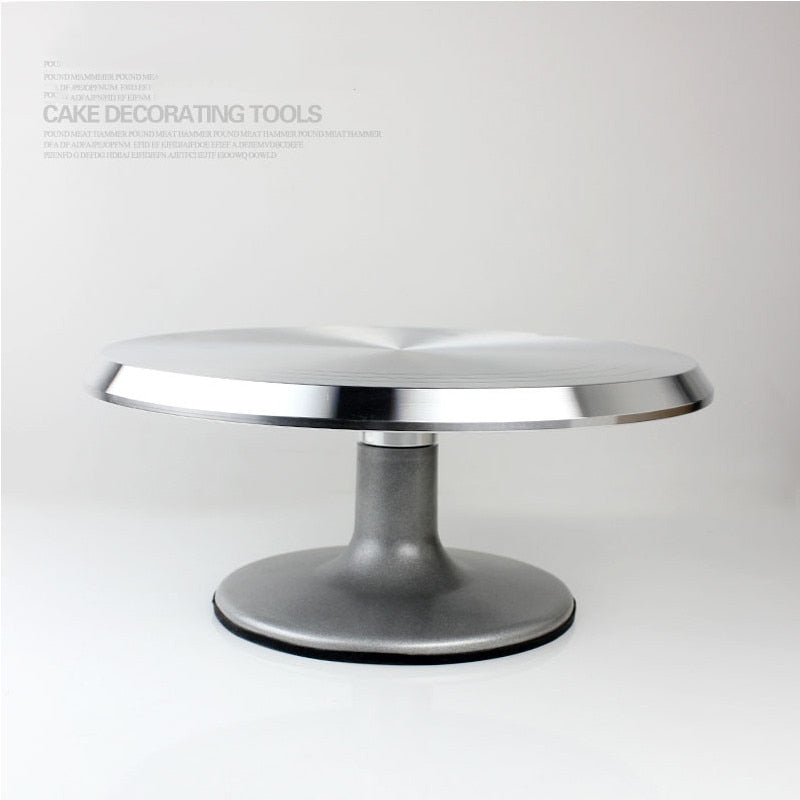 Baking tool 12 - inch aluminum alloy mounted cream cake mounted on the rotary table  turntable