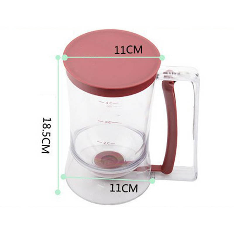 Batter Dispenser Cupcakes Pancakes Cookie Portable Plastic Cream Separator Measuring Cup Kitchen