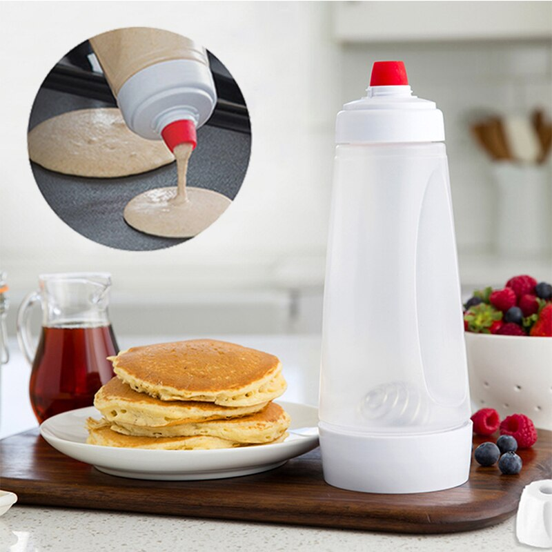 Batter Mixing Bottle Pancake Dispenser Cupcake Muffin Tool Waffles Batter Shaker Bottle Kitchen Cake